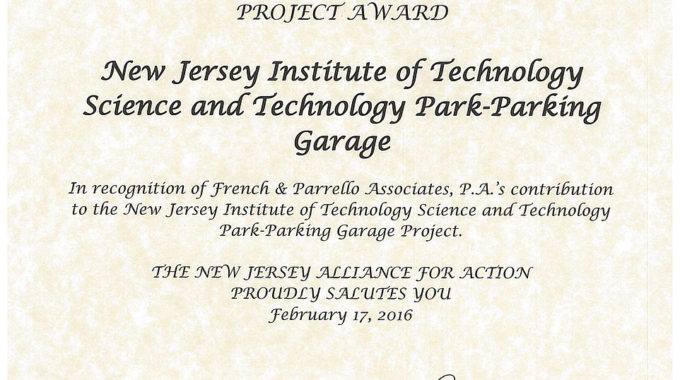 2016 NJ Leading Infrastructure Project Award Recipient