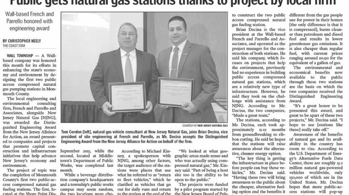 "The Coast Star: ""Wall-based French And Parrello Honored With Engineering Award"""